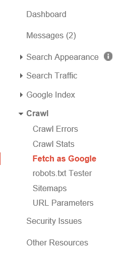 fetch as google to index your site in minutes