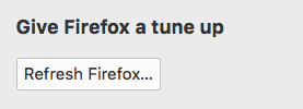 how to refresh firefox